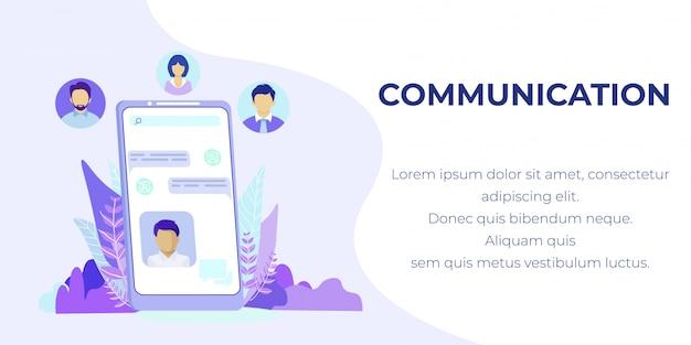 Comunicazione online tramite banner pubblicitario mobile