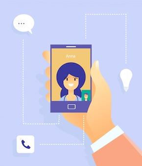 Comunicazione sociale con donna