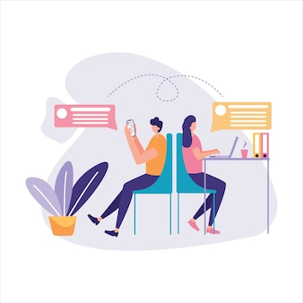 Comunicazione tramite illustrazione online