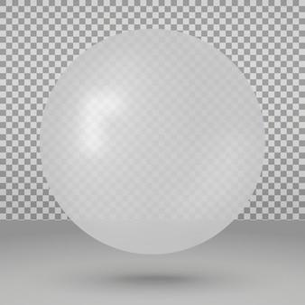 Con palla bianca sopra trasparente