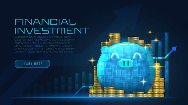 Concept art di crescita finanziaria
