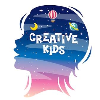Concept design con silhouette per bambini