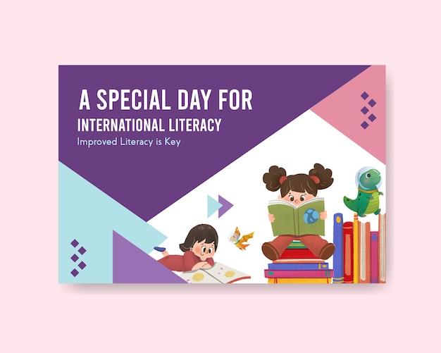 Concept design della giornata internazionale dell'alfabetizzazione