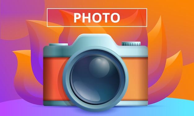 Concept design fotografico con macchina fotografica