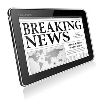 Concept - ultime notizie digitali