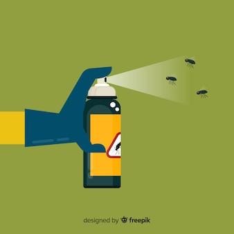 Concepto di spruzzo di zanzara della holding della mano