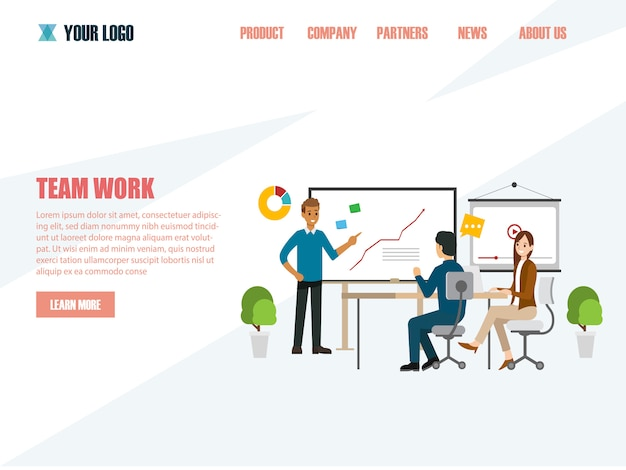 Concetti aziendali per analisi e pianificazione, consulenza di gruppo