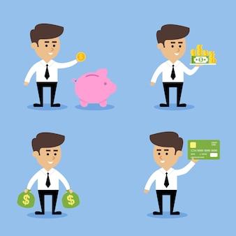 Concetti finanziari uomo d'affari