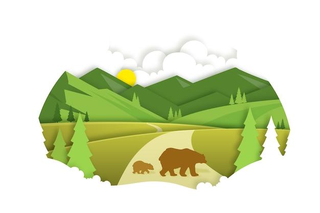 Concetto ambientale in stile carta