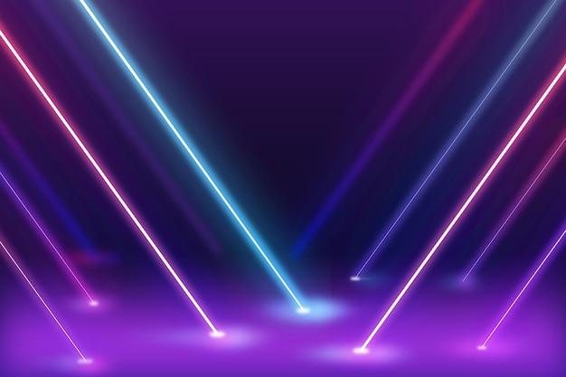 Concetto astratto della carta da parati delle luci al neon