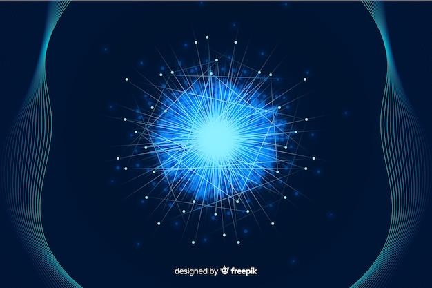 Concetto astratto di grandi quantità di dati con influenza dello spazio