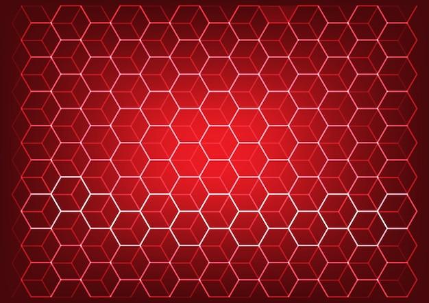 Concetto astratto di scienza e tecnologia con sfondo di elementi esagonali