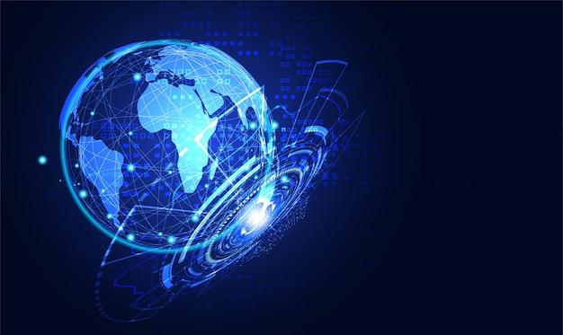 Concetto astratto di tecnologia globale