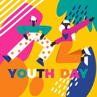 Concetto colorato giorno della gioventù