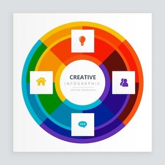 Concetto creativo infografica