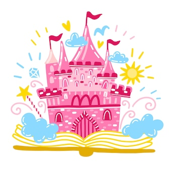 Concetto da favola con il castello