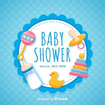 Concetto decorativo della doccia di bambino