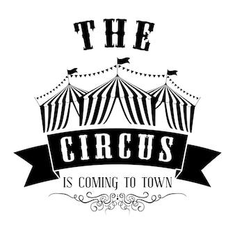 Concetto del circo con il disegno dell'icona di carnevale, grafico dell'illustrazione 10 env di vettore.