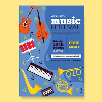 Concetto del festival musicale