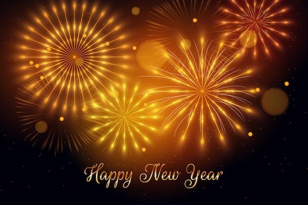 Concetto del fondo del nuovo anno 2020 dei fuochi d'artificio