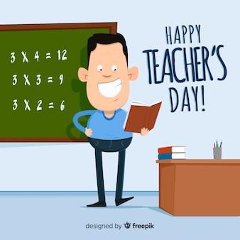 Concetto del fondo di giorno degli insegnanti del mondo