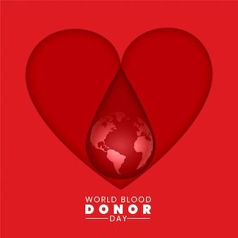 Concetto del fondo di giorno di donatore di sangue del mondo