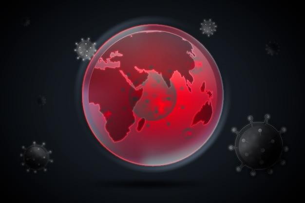 Concetto del globo di coronavirus
