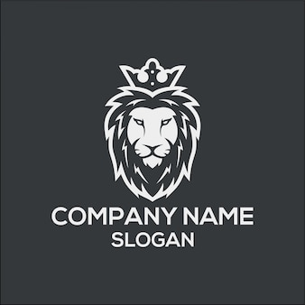 Concetto del logo di king lion