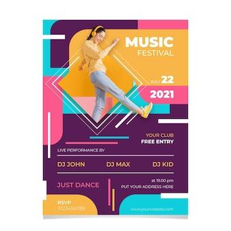 Concetto del manifesto del festival di musica 2021