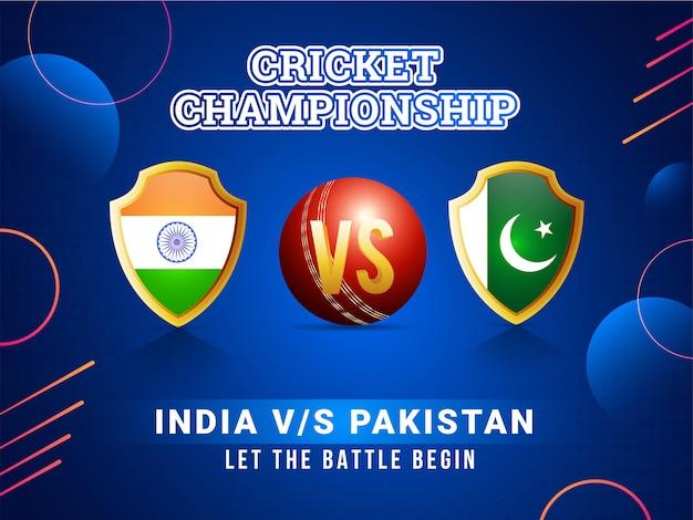 Concetto del manifesto della lega del cricket del mondo.