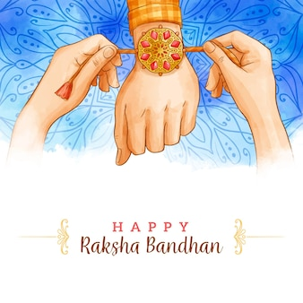 Concetto dell'acquerello raksha bandhan