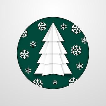 Concetto dell'albero di natale nello stile di carta
