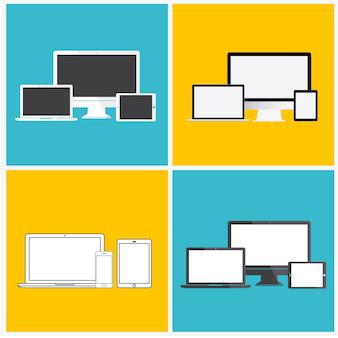 Concetto dell'icona del dispositivo digitale di tecnologia