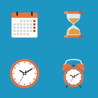 Concetto dell'icona di affari di scadenza, illustrazione piana di vettore di progettazione