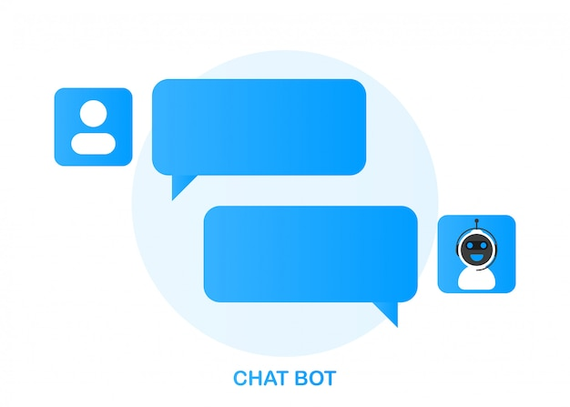 Concetto dell'icona di chatbot, bot di chat o chatterbot.