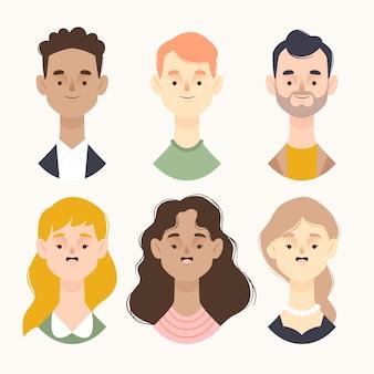 Concetto dell'illustrazione degli avatar della gente