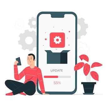 Concetto dell'illustrazione dell'installazione di app