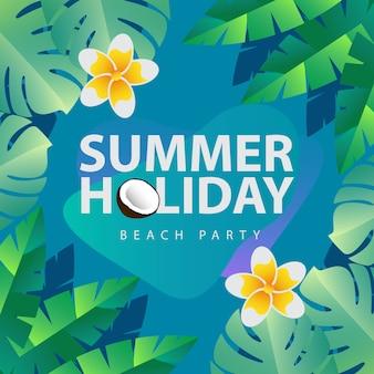 Concetto dell'illustrazione delle vacanze estive