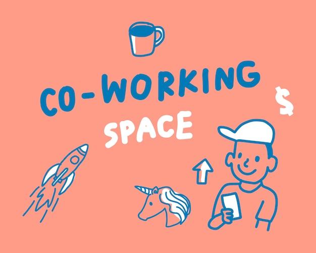 Concetto dell'illustrazione dello spazio di coworking