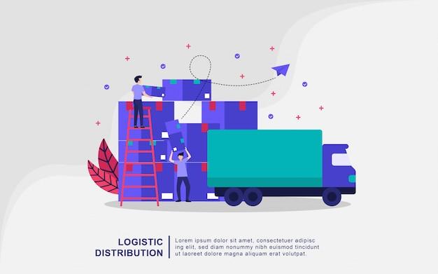 Concetto dell'illustrazione di distribuzione di logistica
