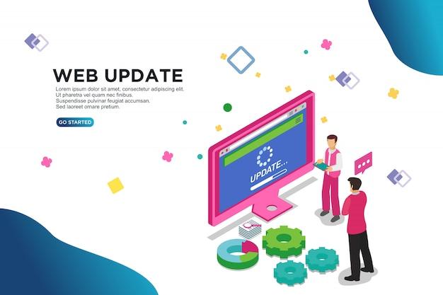 Concetto dell'illustrazione di vettore dell'aggiornamento di web