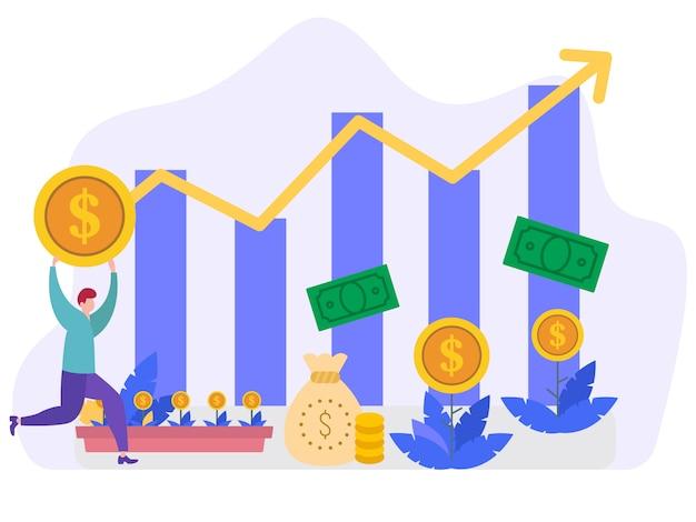 Concetto dell'illustrazione di vettore di crescita economica