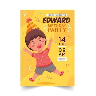 Concetto dell'invito di compleanno dei bambini