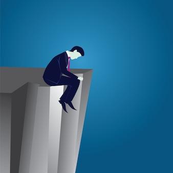 Concetto dell'uomo d'affari di fallimento di affari