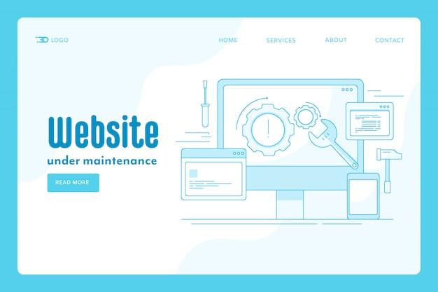Concetto della pagina di destinazione della manutenzione del sito web
