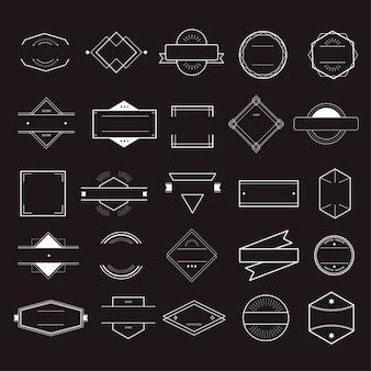 Concetto della raccolta di logo del distintivo di simbolo dell'icona