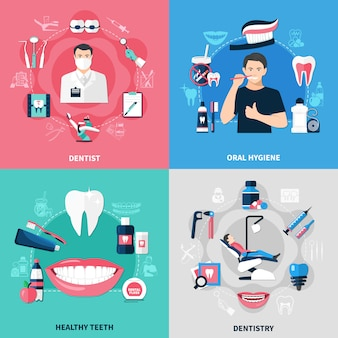 Concetto dentale 2x2