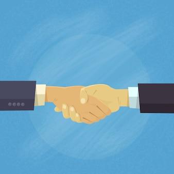Concetto di accordo di scossa delle mani della gente di affari della stretta di mano