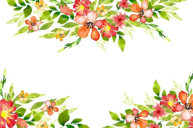Concetto di acquerello colorato carta da parati floreale