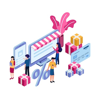 Concetto di acquisto negozio online